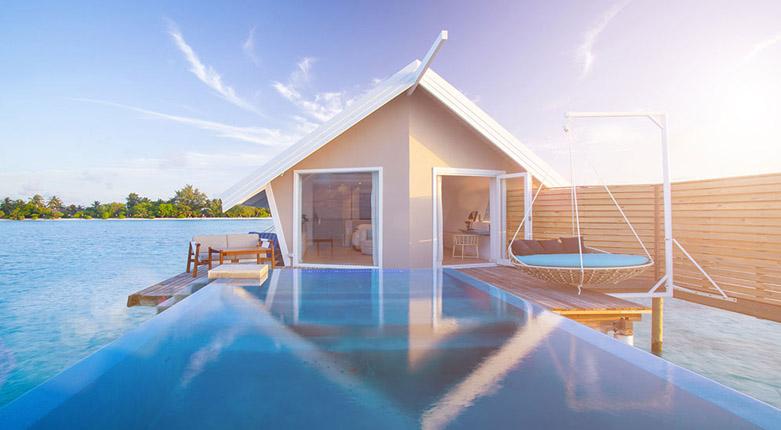 马尔代夫力士岛泳池水上别墅既然是这样的